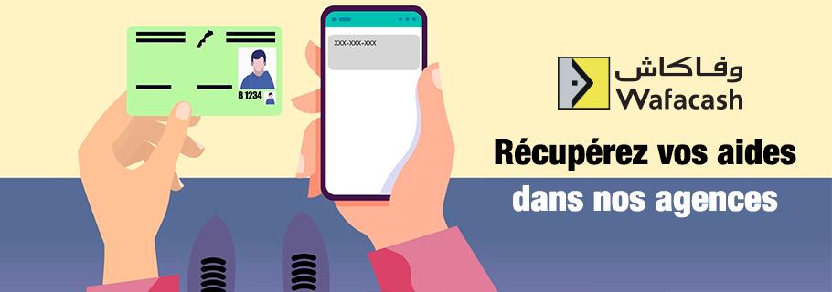 Il est désormais possible de récupérer les aides Ramed et CNSS auprès de toutes les agences Wafacash. Munissez-vous de votre CIN et du code reçu par SMS contenant les informations de paiement